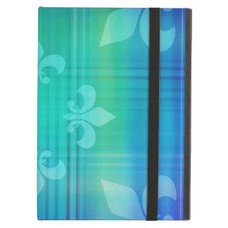 Classy Blue Fleur de Lis Case For iPad Air