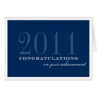 Classy border navy blue congratulation achievement card