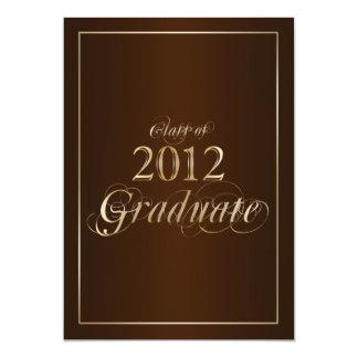 Classy Brown and Gold 2012 Graduate Invitation