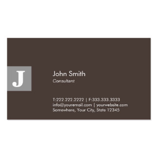 Classy Brown Monogram Consultant Pack Of Standard Business Cards