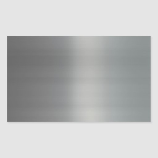 Classy Brushed Metal Textured Rectangular Sticker