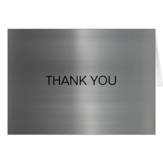 Classy Brushed Metal Thank You Card