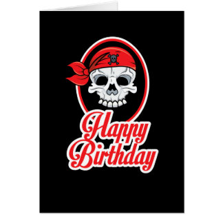 Classy But Funny Skeleton Tattoo Birthday Card