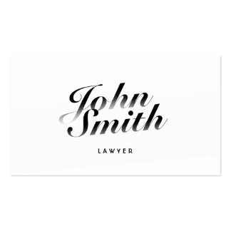 Classy Calligraphic Lawyer Business Card