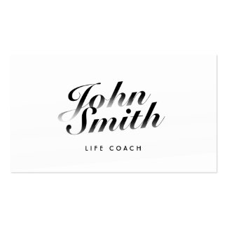 Classy Calligraphic Life Coach Business Card