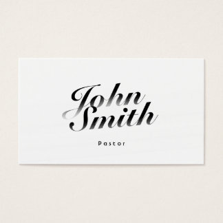 Classy Calligraphic Pastor Business Card