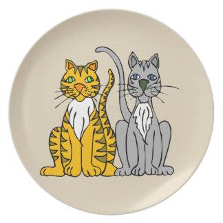 Classy Cats Melamine Plate