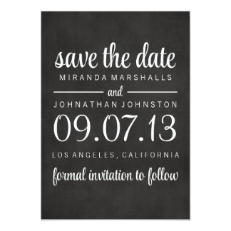 Classy Chalkboard Photo Save The Date Invites