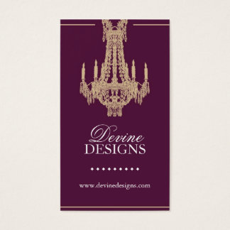 Classy Chandelier Business Card