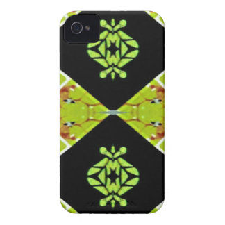 Classy Chic Black Lime Modern Pattern iPhone 4 Covers