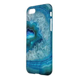 Classy Chic Blue Geode Crystal iPhone 7 Case