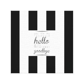 Classy-Chic Canvas - Favorite Hello