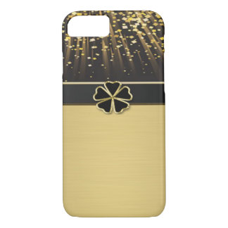 Classy Chic Elegant Irish Shamrock ,Faux Gold iPhone 8/7 Case