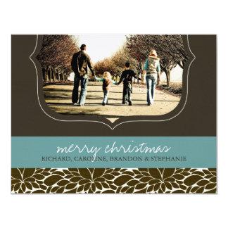"Classy Christmas Photo Card 4.25"" X 5.5"" Invitation Card"