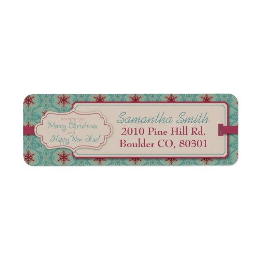 Classy Christmas Return Label Return Address Label