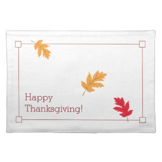 Classy, Colourful, and Festive Thanksgiving Placemats
