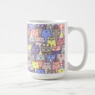 Classy Cool Christmas Cats Funny Coffee Mug