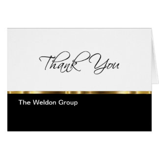 Classy Corporate Thank You Cards