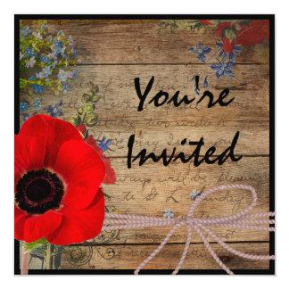 Classy Country Wedding Invitation
