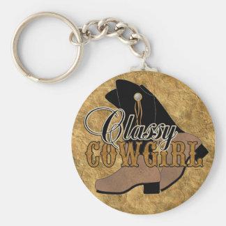Classy Cowgirl keychain