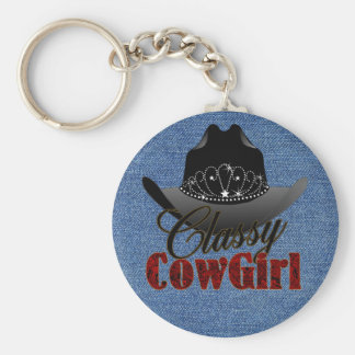 Classy Cowgirl Rodeo Queen Keychain