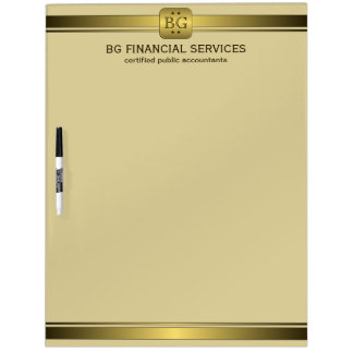 Classy Cream and Gold Plate Dry-Erase Board 22x16