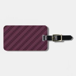 Classy Crimson Stripes - Attractive Red and Purple Luggage Tag