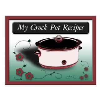 Classy Crock Pot Recipe Cards Postcard