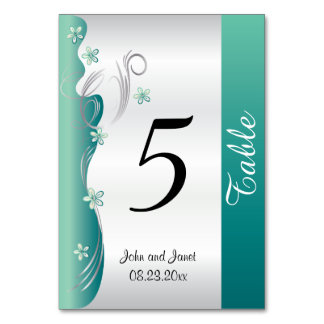 Classy Curvy Floral Design | Jade and Silver Card