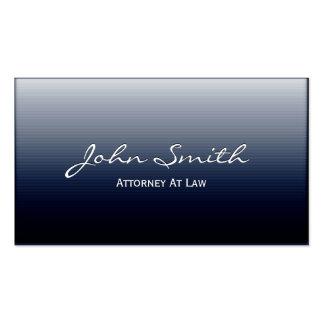 Classy Dark Blue Metal Lawyer Business Card