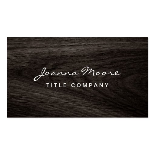 Classy dark oak wood grain professional profile business card templates