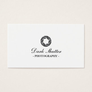 Classy Dark Shutter Photography Business Card