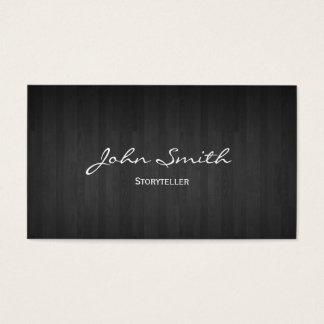 Classy Dark Wood Storyteller Business Card