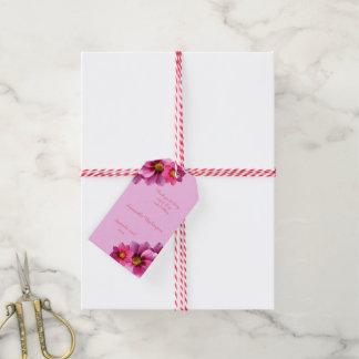 Classy Decorative Corner Dahlias Birthday Gift Tags