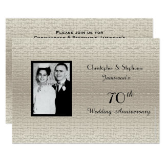 Classy Deluxe Wedding Anniversary Photo Invitation