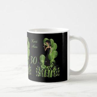 Classy Diva Birthday or Bachelorette Girl   Green Coffee Mug