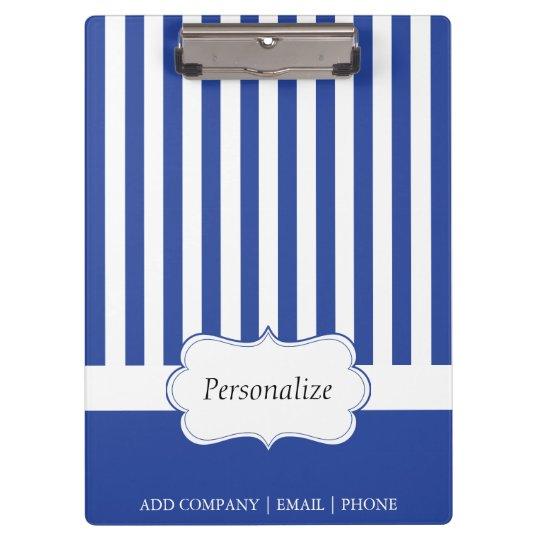 Classy Electric Blue Stripes | DIY Text Clipboard