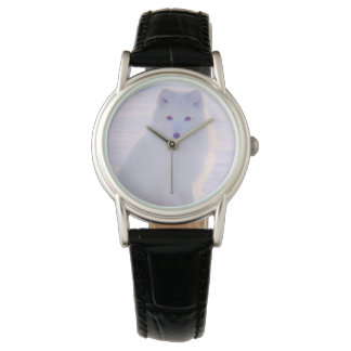 Classy Elegant Arctic Winter Fox Photo Designed Watch