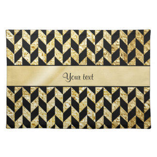 Classy Elegant Gold Chevrons Placemat