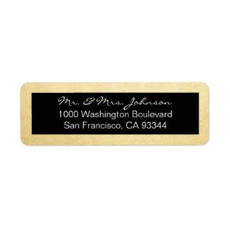 Classy Elegant Gold Foil & Black Return Address