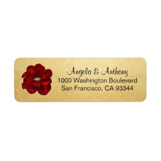 Classy Elegant Gold Foil Wedding Return Address Return Address Label
