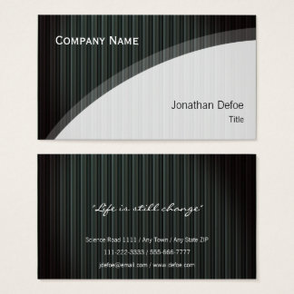 Classy Elegant Professional | Dark strippes Business Card