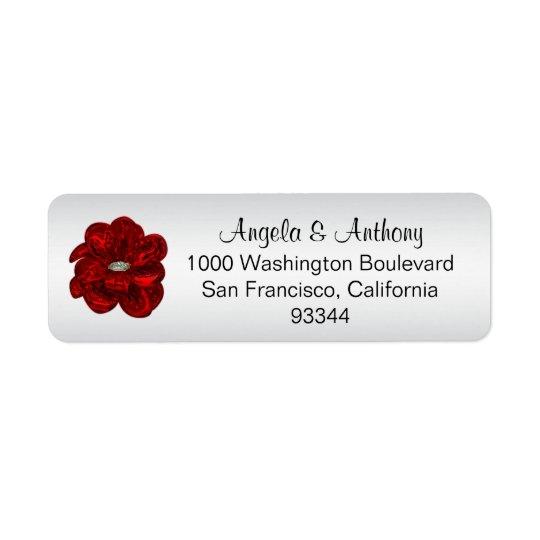 Classy Elegant SILVER Foil Wedding Return Address Return Address Label