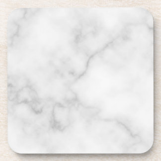 Classy Elegant White Marble Pattern Coaster