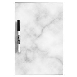 Classy Elegant White Marble Pattern Dry Erase Board