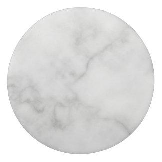Classy Elegant White Marble Pattern Eraser