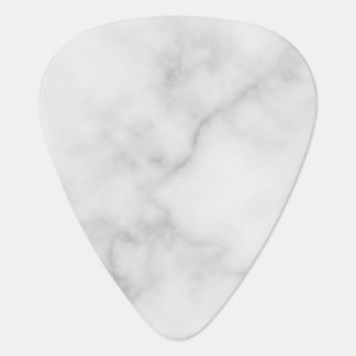 Classy Elegant White Marble Pattern Guitar Pick