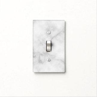 Classy Elegant White Marble Pattern Light Switch Cover