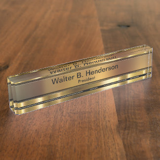 Classy Executive Gift Name Plaque Name Plates