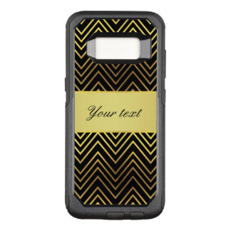 Classy Faux Gold Foil Chevrons OtterBox Commuter Samsung Galaxy S8 Case